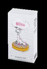 Belarto Geboorte 2020 Geboortekaartje doosje met muisjes roze (610016M)