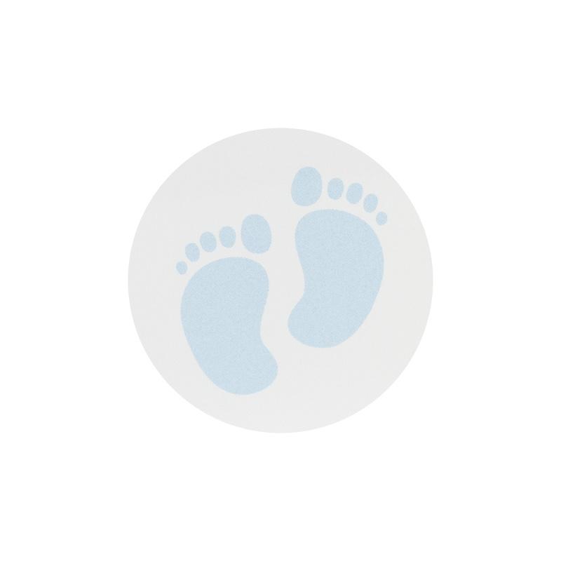 Buromac Pirouette Sluitzegels voetjes blauw per vel van 10 stuks  - Copy