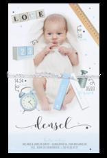 Belarto Geboorte 2020 Geboortekaartje - DIY met labeltjes, blauw (610024N)