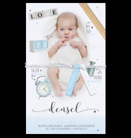 Belarto Geboorte 2020 Geboortekaartje - DIY met labeltjes, blauw