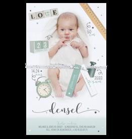 Belarto Geboorte 2020 Geboortekaartje - DIY met labeltjes, groen