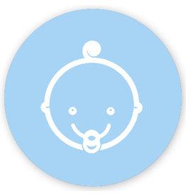Mare Baby met krul, blauw