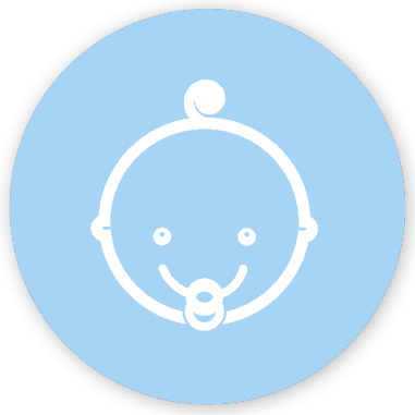 Mare Baby met krul, blauw (SL-007)