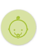 Mare Baby met krul, lindegroen (SL-060)