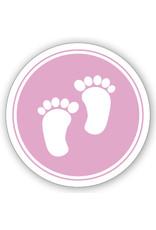 Mare  Sluitzegel roze voetjes (SL-052)