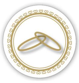 Mare Sluitzegel Twee ringen en hartjes