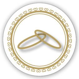 Mare Sluitzegel Twee ringen en hartjes  (HZ-003)