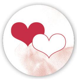 Mare Sluitzegel Twee harten rood