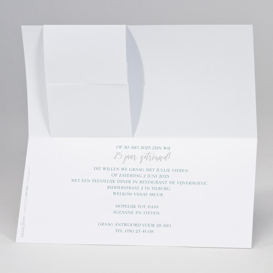 Buromac-Papillons Langwerpige jubileumkaart met zilveren krans (108302)