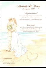 Mare Trouwkaart strand, romantiek uit de jaren tachtig (800000)
