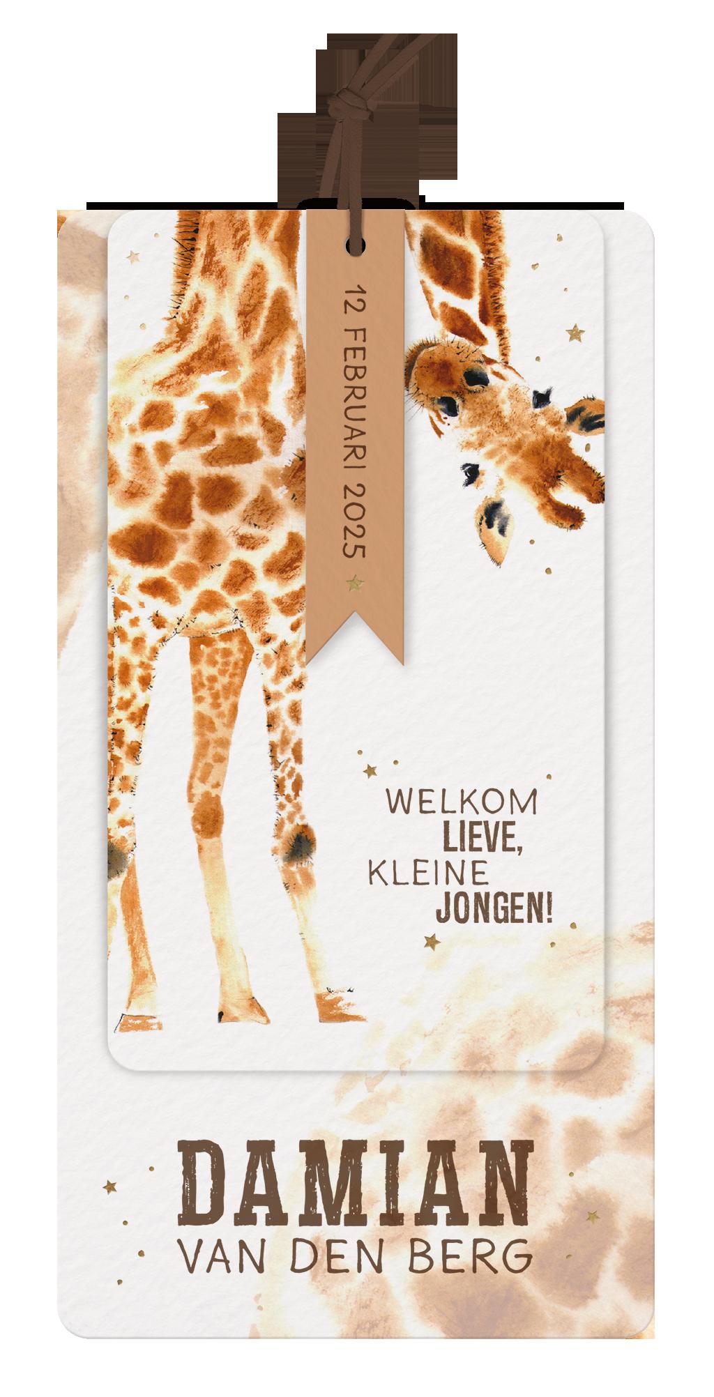 Belarto Geboorte 2020 Geboortekaart Giraf (610022)