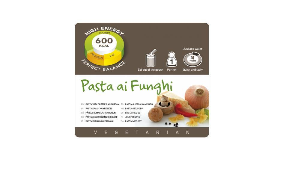 Adventure Food Vegetarian Freeze-Dried Meal: Pasta Cheese / Mushroom