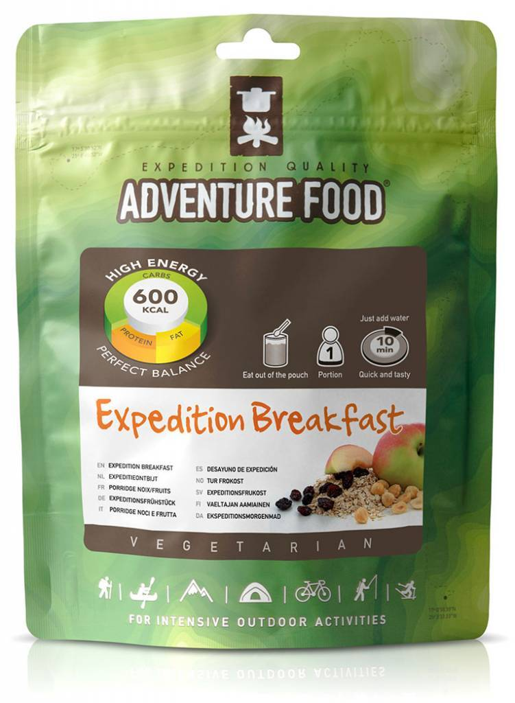 Adventure Food Expeditie ontbijt