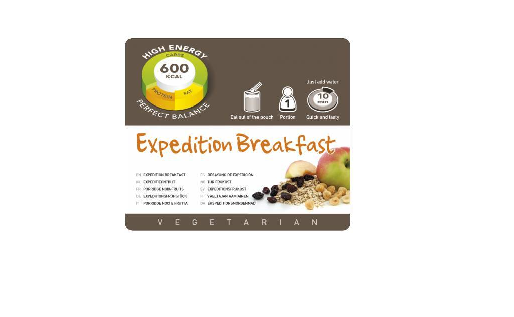 Adventure Food Freeze-Dried Meal: Expedition Breakfast