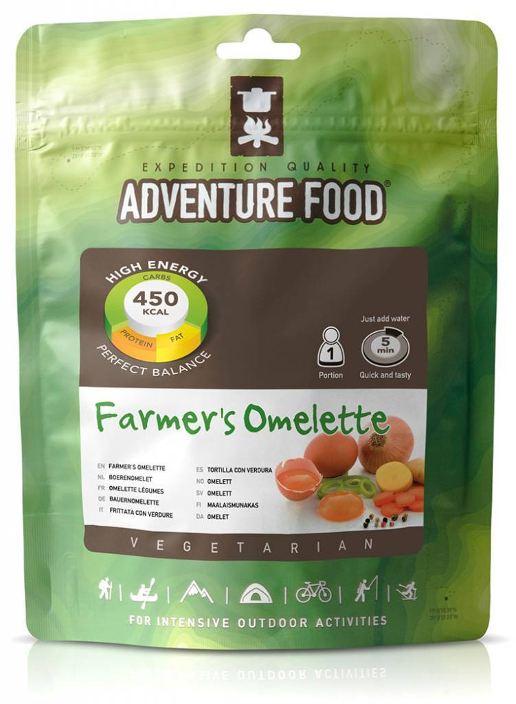 Adventure Food Vegetarian Freeze-Dried Meal; Omelette