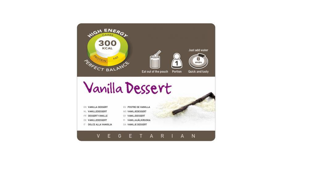 Adventure Food Vanilla dessert