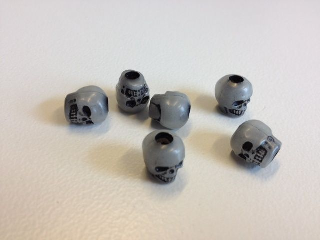 Paracord Skull Beads