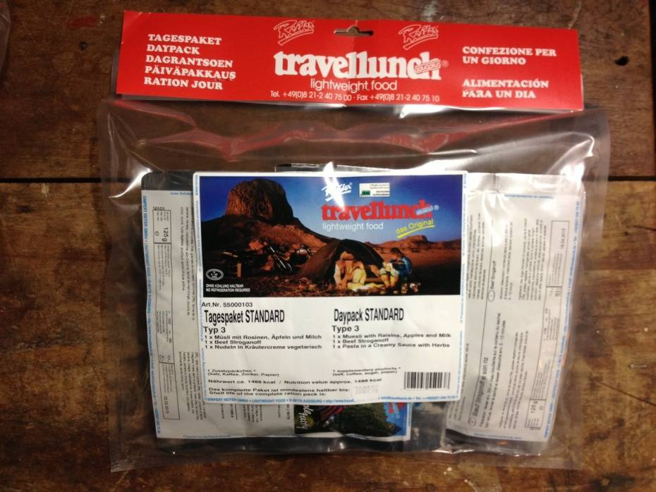 Travellunch Day Package no3 (for cold region)