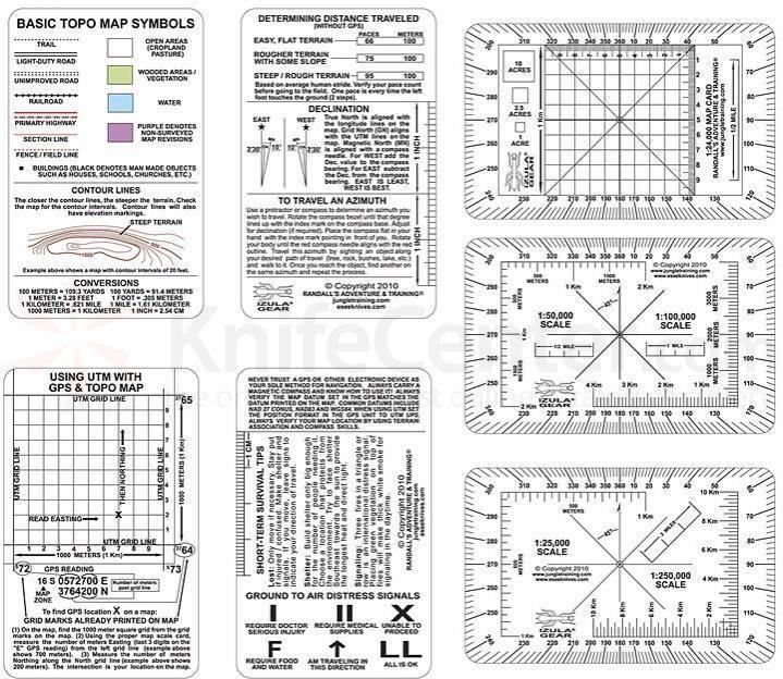 Esee Izula Gear Nav Card Set
