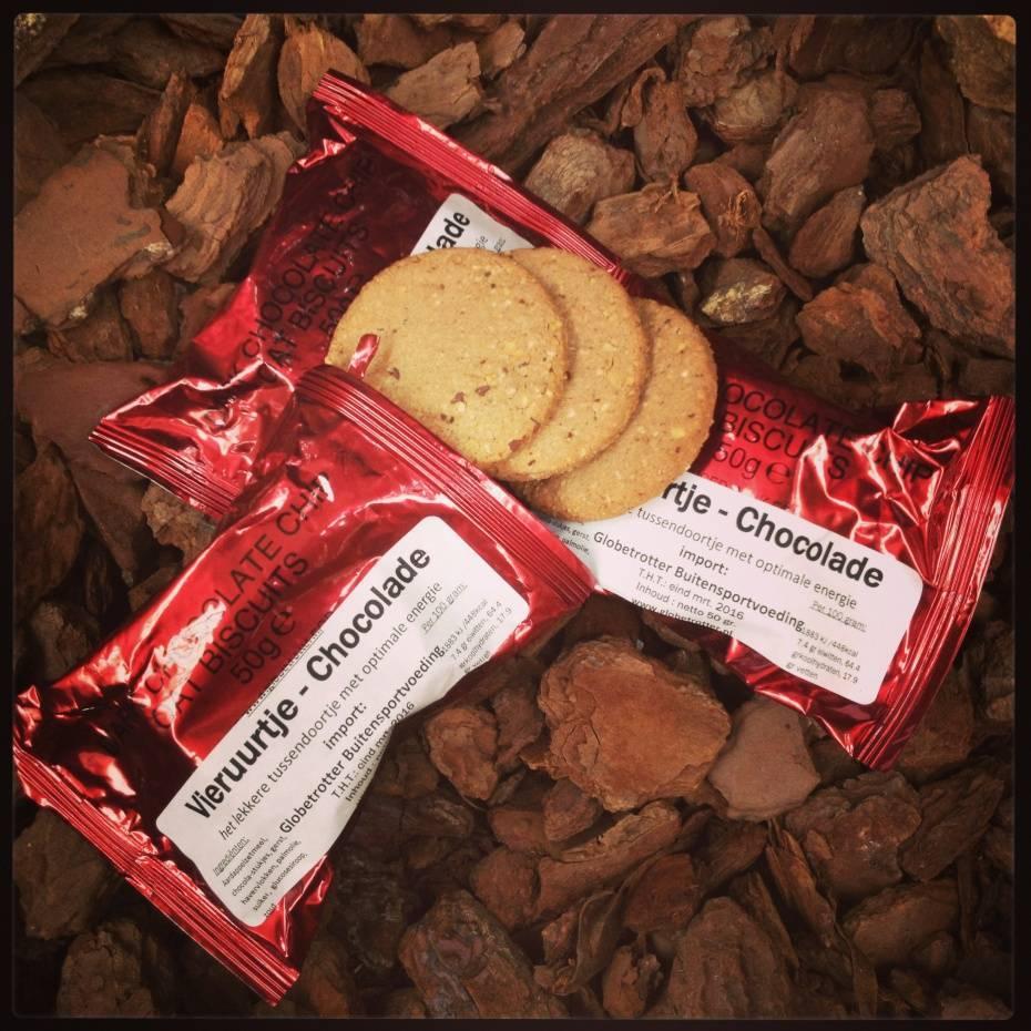 Globetrotter Vieruurtje koek - Chocolade