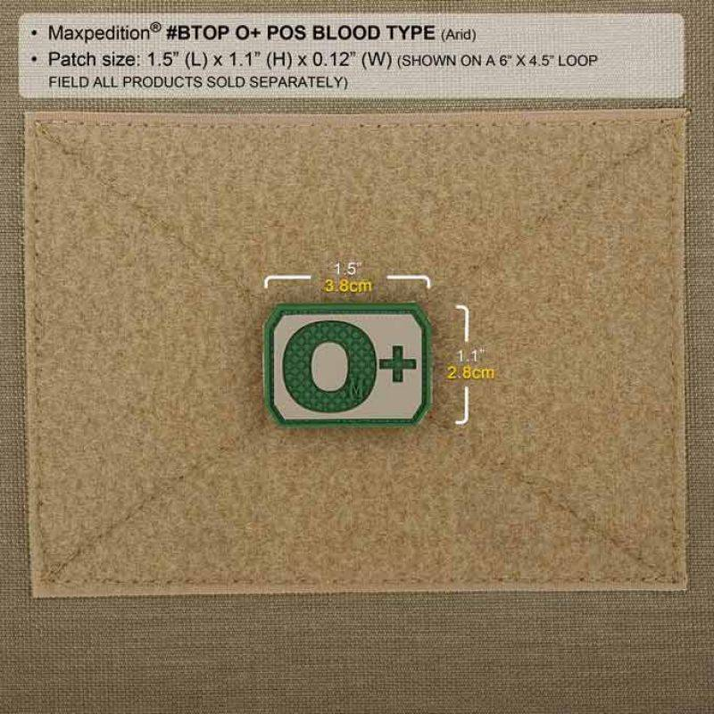 Maxpedition Blood Group 3D Morale Patch