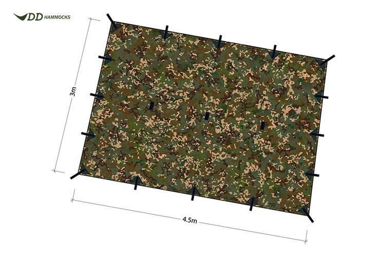 DD Hammocks Tarp XL (4.5 x 3) Multicam
