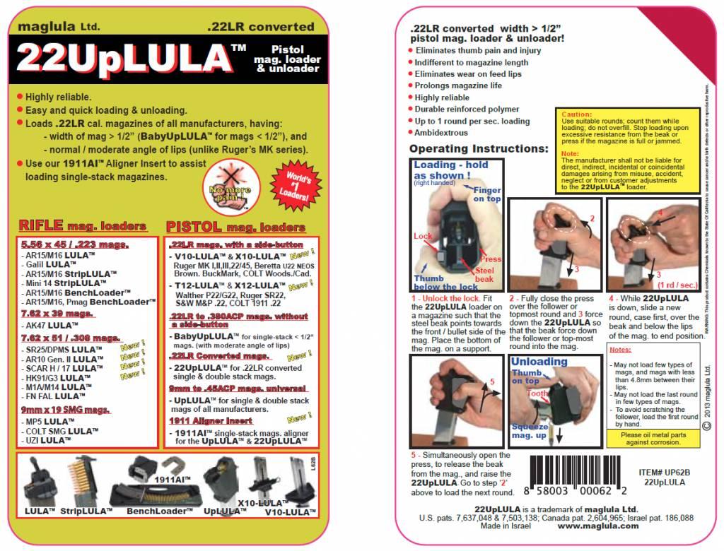 22UpLULA™ – .22LR Double-Stack Mag Loader