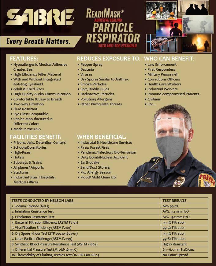 Sabre Particulate Respirator