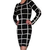 Blocked Dress Black/White