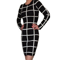 Blocked Dress Black/White