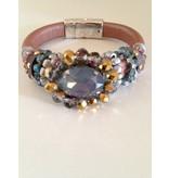 Ibiza armband oud roze