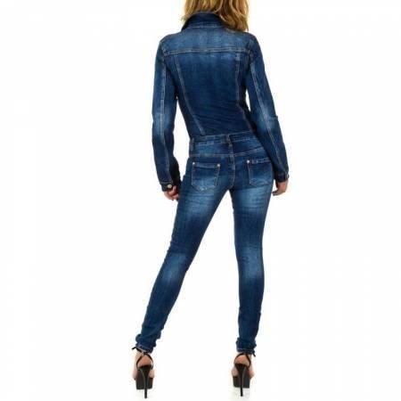Spijker (denim) Jumpsuit blauw met rits