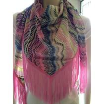 Sjaal ibiza style roze