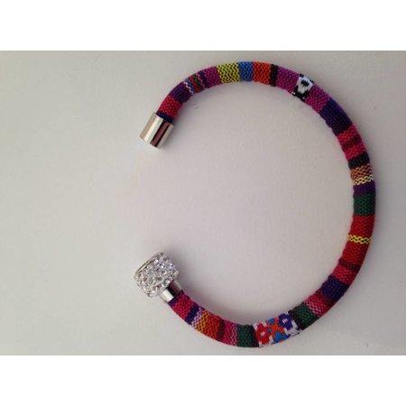 Ibiza armband stof kleur