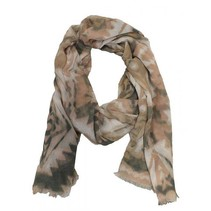 Sjaal print creme