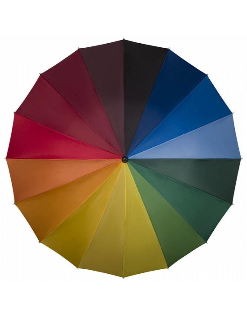 Falcone® Golf Paraplu (Haak Handvat) - Regenboogkleuren
