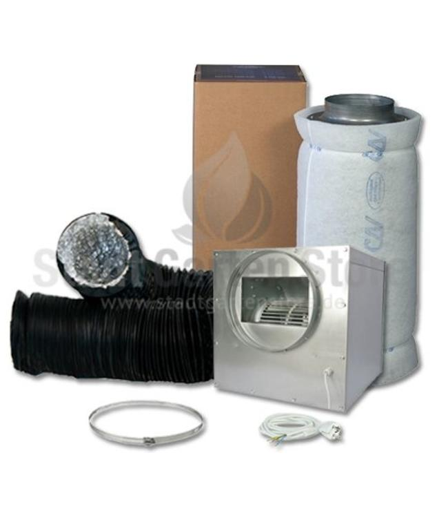 Can Fan  Iso Lüfterbox Stahl Lite 1500 Filter Abluft Set Ø250mm 1200m³/h