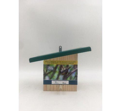 Vogelschutz Erdnussbutterfutterautomat mit geneigtem Dach