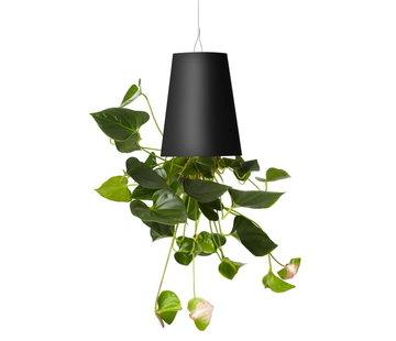 Boskke Sky Planter Recycled Blumentopf Schwarz Mittel