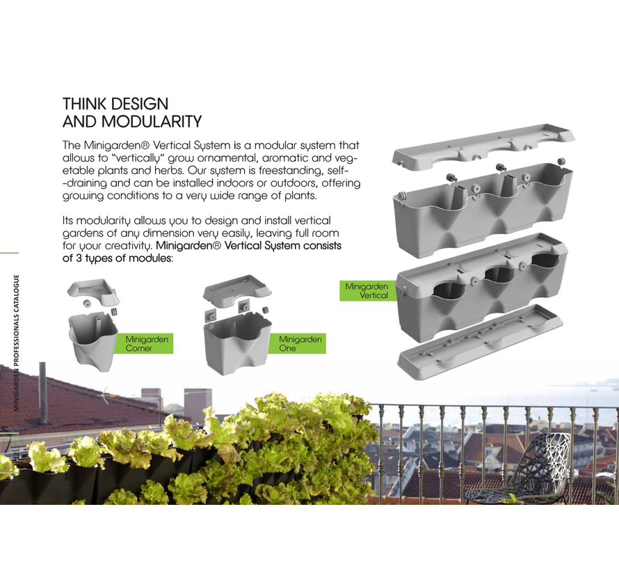 Minigarden Vertical Grün 3 Modul Starter-kit