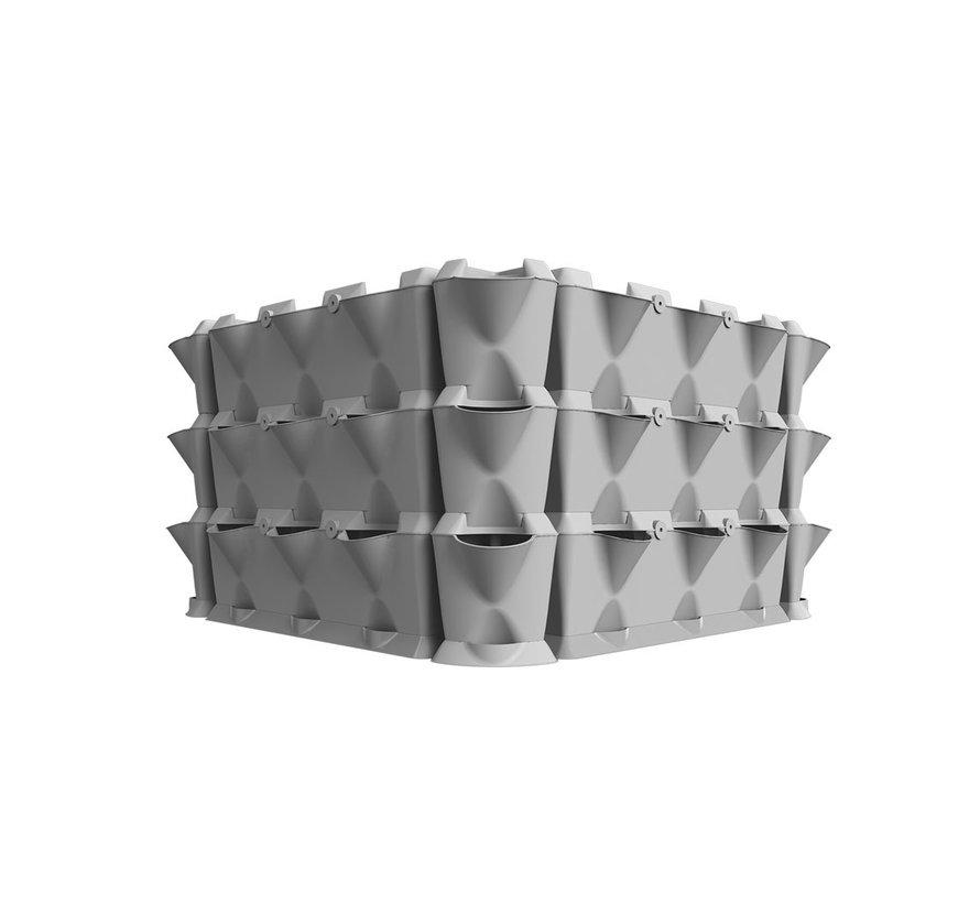 Minigarden Vertical Corner Eckmodule Grau