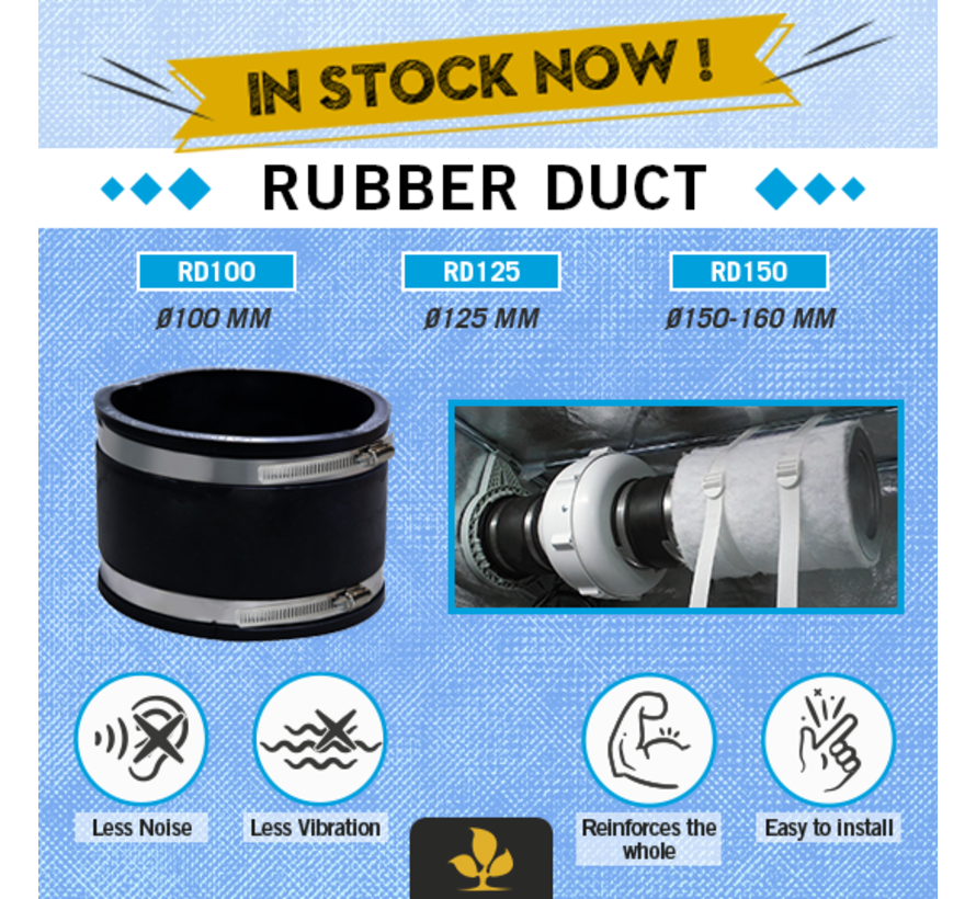 Secret Jardin Rubber Duct 100 mm
