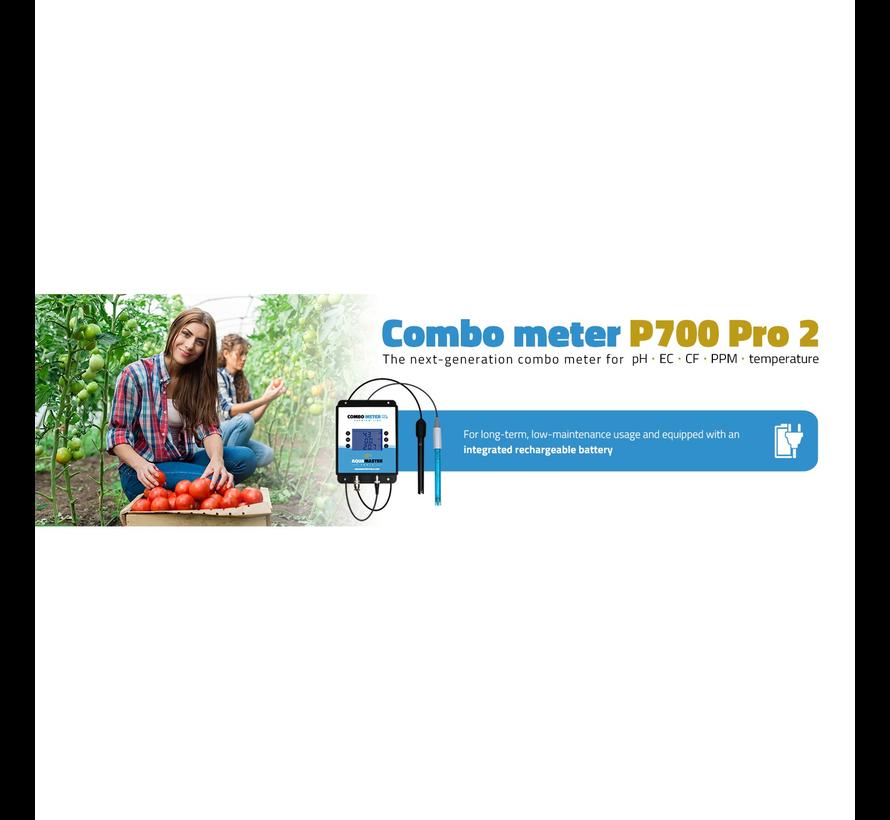 Aqua Master Tools Combo Meter P700 Pro pH, EC, CF, PPM, Temp