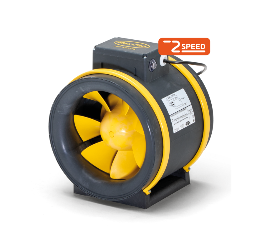 Can Filters MAX-FAN PRO AC 250/1660 Rohrventilator 2 Stufen Ø250mm 1660m³/h