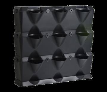 Minigarden Vertical Schwarz 3 Module Starter-kit