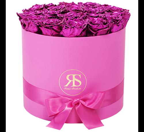Rosuz Flowerbox Longlife Ciara Metallic-Rosa