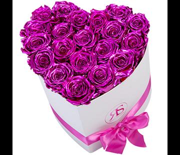 Rosuz Flowerbox Longlife Ella Metallic Rosa