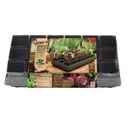 Grow Anzuchtschale mit Bewässerungsmatte 18 Fächer 57x31 cm