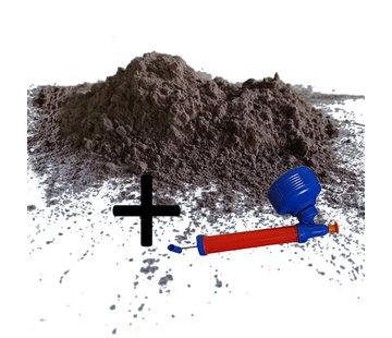 Biogroei Lavamehl 3kg und Pulverzerstäuber