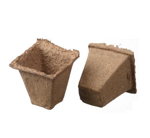 Nature Biologisch Abbaubare Torf-Töpfe Quadratisch 16 Stück